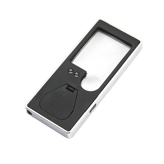 Картинка для Лупа карманная Veber 3x/8x, 38x31 мм, с подсветкой (7007)