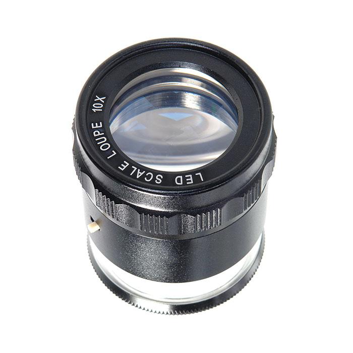 Картинка для Лупа измерительная Veber 10x, 25 мм, с подсветкой (MG7173)
