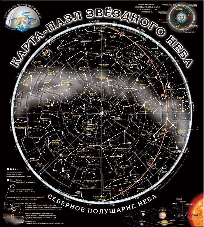Картинка для Карта-пазл «Звездное небо»