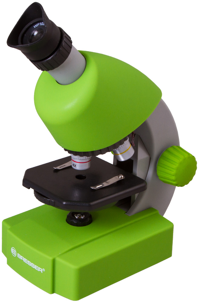 Картинка для Микроскоп Bresser (Брессер) Junior 40x-640x, зеленый