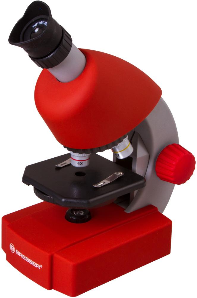 Картинка для Микроскоп Bresser (Брессер) Junior 40x-640x, красный