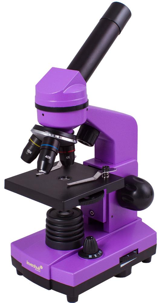 Картинка для Микроскоп Levenhuk (Левенгук) Rainbow 2L Amethyst\Аметист