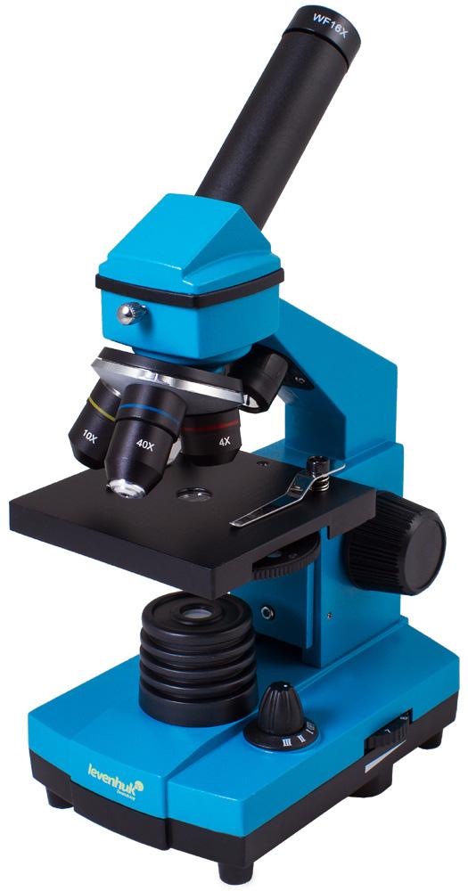 Картинка для Микроскоп Levenhuk (Левенгук) Rainbow 2L PLUS Azure\Лазурь