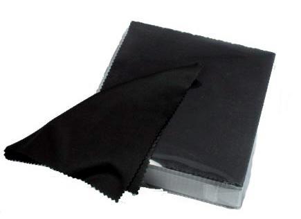 Салфетка MingDaSoft  для оптики №2, микрофибра, черная  150.000
