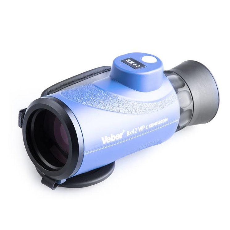 Картинка для Монокуляр Veber BGD 8x42 С, синий, с компасом