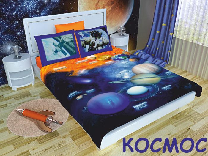 Картинка для Комплект постельного белья NEWTONE «Космос», 1,5-спальное