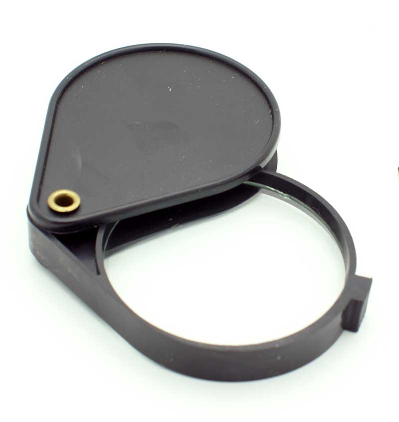 Картинка для Лупа Kromatech карманная 3x, 60 мм, складная, в чехле