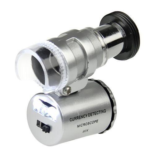 Картинка для Микроскоп Kromatech 60x мини, с подсветкой (2 LED) и ультрафиолетом (9882)