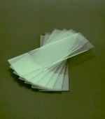 Картинка для Стекла предметные 76x25 мм со шлифованными краями и матовой полосой, 72 шт.