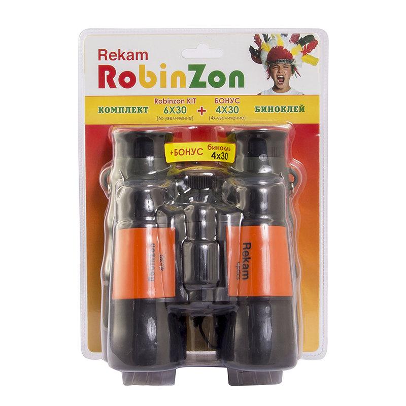 Картинка для Комплект биноклей Rekam «RobinZon Kit»: RobinZon 4x30 и RobinZon 6x30