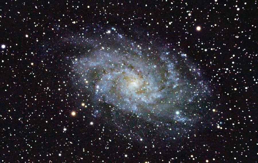 Спиральная галактика в созвездии «Треугольник» (M 33, NGC 598)