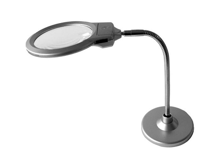 Лупа «Настольная лампа» 2,25x/5x, 107 мм/22 мм, бифокальная с подсветкой (№ MG4B-6-107)  1090.000