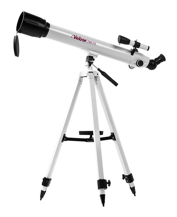 Телескоп Veber 700/70 AZ, белый