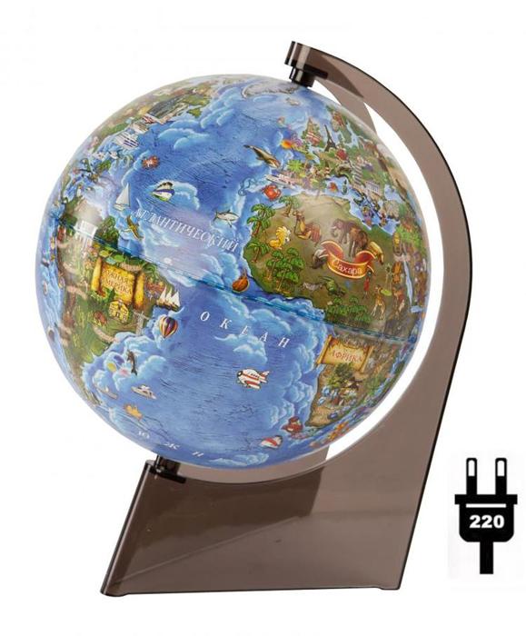 Картинка для Глобус Земли для детей, с подсветкой, диаметр 210 мм