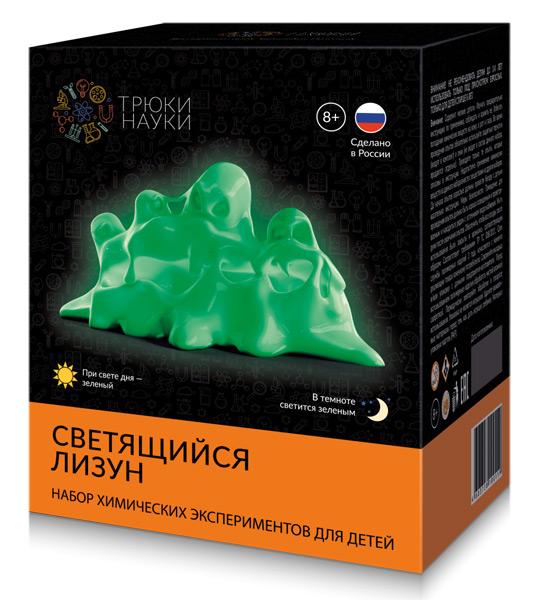 Картинка для Набор для опытов «Трюки науки» Z104 «Светящийся лизун», зеленый