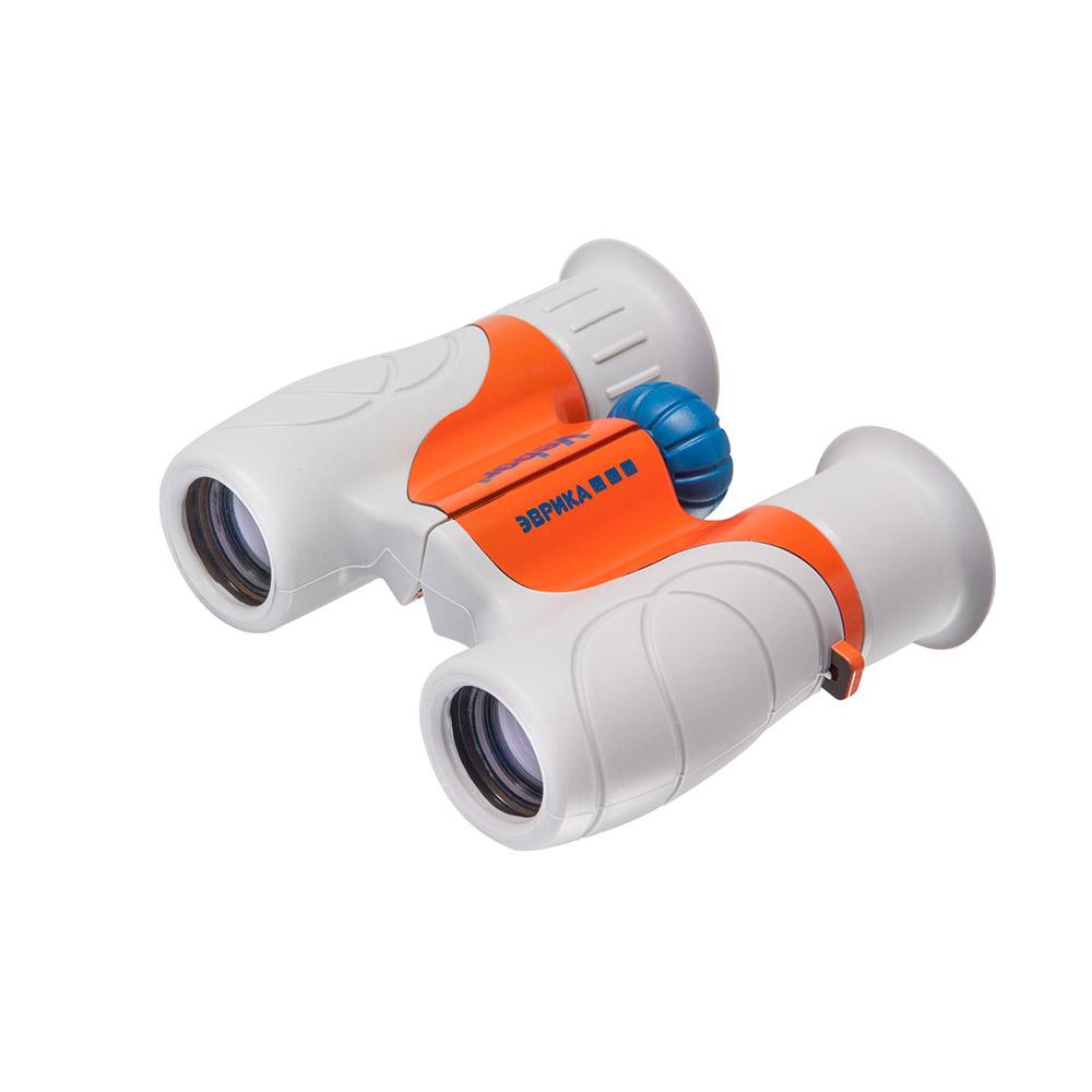 Бинокль детский Veber «Эврика» 6x21, серо-оранжевый фото